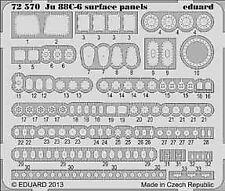 Eduard 1/72 Junkers Ju 88C-6 paneles de superficie autoadhesiva # 72570
