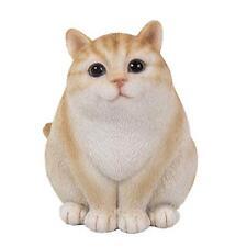 Fluffy Fat Chubby Cute Tabby Cat Kitten Pet Pal Figurine Statue Meow