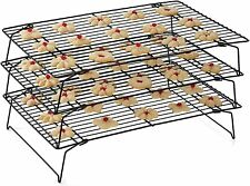 Cookie Cooling Racks Stacks 3 Tier Baking Bakery Wire Stackable Food Cake Rack