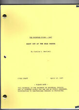 """THE ROCKFORD FILES - 1997 Script """"Shoot Out At The"""""""