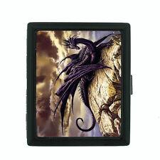 Metal Cigarette Case Holder Box Dragon Design-007 Custom Mythology and Fantasy