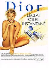 PUBLICITE ADVERTISING  1997   DIOR  cosmétiques solaires