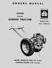 David Bradley Super 5.6 HP Owners Manual 917.575112