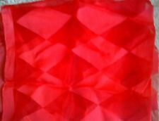 Vintage 1970's Women'S 25 in Square Hot Red Diamond Pattern Scarf!