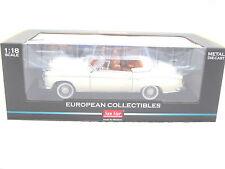 SUNSTAR 1958 MERCEDES 220SE OPEN CONVERTIBLE WHITE 1/18 DIECAST CAR SUNSTAR 3555