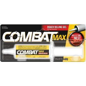 Combat MAX ROACH KILLING GEL Kills The Nest 1 SYRINGE KILLS LARGE SMALL ROACHES