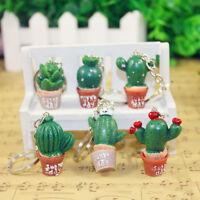 Kawaii Simulation Cactus Key Ring Key Chain Car Bag Hangbag Plant Pendant Gift