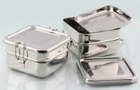 2 Tier Stainless Steel Food grade  lunch box Square School Tiffin Box Big