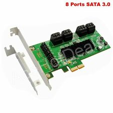 PCI Express PCI-E 8 Port SATA3 SATAIII Controller Card w/ Low Profile Bracket