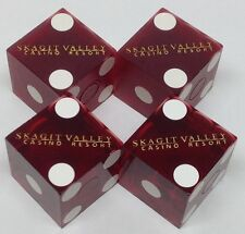 CASINO DICE - SKAGIT VALLEY RESORT PAIR USED MATCHED DICE BOW WA FREE SHIPPING