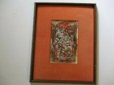 VINTAGE MID CENTURY PAINTING ABSTRACT EXPRESSIONIST EXPRESSIONISM PORTRAIT MOD