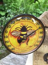 Pink Cloud Gallery Bee Outdoor Solid-Copper Thermometers