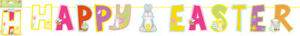 Happy Easter Bunting Garland  Banner Hanging  PENNANT Party Decorations