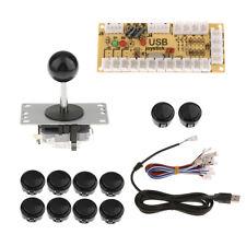 Arcade Zero Delay USB Encoder Board+PC Joystick + 10 Buttons DIY Kit Black