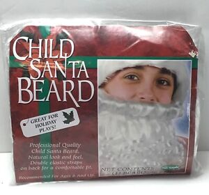 Child Size / Deluxe Professional Christmas Santa Claus Curly White Beard