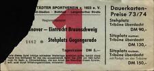 Ticket Regionalliga Nord 73/74 OSV Hannover - Eintracht Braunschweig