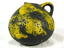 Well shaped 70´s design ES Keramik Fat Lava vase Emons & Söhne 45 / 10   yellow