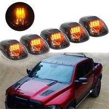 Amber LED Cab Roof Marker Lights Smoke Cover For Dodge RAM 1500 2500 3500 4500