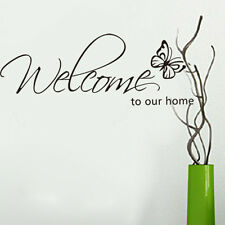 Welcome to Our home Quote Wall Stickers Decal Art Home Decoration Black
