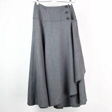 Escada Skirt Wool Margaretha Ley W. Germany Vintage Size 4 Gray