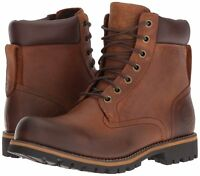 Men's Shoes Timberland Rugged 6-inch Waterproof Leather Boots 74134 Brown *New*