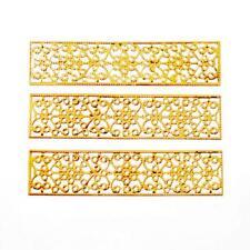 20Pcs Gold Tone Rectangle Filigree Flower Wraps Connectors Metal Crafts Decor