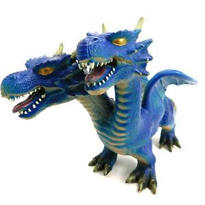 "Toys R Us 2 Headed Dragon Maidenhead Rubber Dragon 17"" Toy Fantasy EUC 2014"