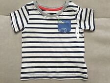 New Baby Boy Mini Boden Shirt Size 3-6 Month Blue Red Ships Nautical