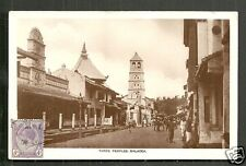 Malacca rppc Mosque Temple Street Malaysia stamp 20s