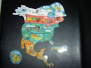 Magnets Brossard Amérique carte Savane complète de 16 magnets neufs
