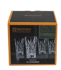 Nachtmann 4x Longdrinkglas Schilfdekoration Kristallglas 380ml Imperial 93429