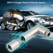1*Universal M18X1.5 Steel 90° Angled O2 Oxygen Sensor Extender Spacer Extension