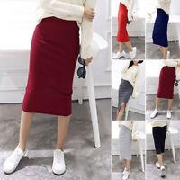 Women's Sexy Thin Bodycon Pencil Slim Mini Dress Solid Color Office Mini Skirts