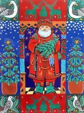 "St. Nick Garden Flag by Toland #1007 , 11"" x 14.5"", Christmas Santa"
