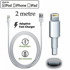 2m Apple iPhone 5 6 7 PLUS SE iPad mini Air Pro iPod Fast data charger usb cable