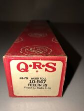 QRS 12-75 Player Piano Word Roll 10-547 Feelings Martin Kalve
