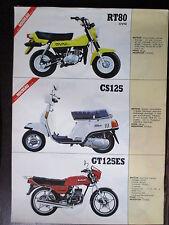 BROCHURE CATALOGUE 1983  MOTO SUZUKI  RT 80 OVNI CS GT  ES  DR GS GN 125