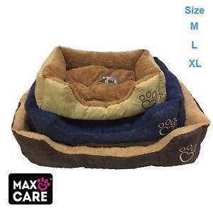 LARGE LUXURY WASHABLE PET DOG PUPPY CAT BED CUSHION SOFT WARM BASKET COMFY XL