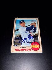 Trayce Thompson Los Angeles Dodgers 2017 Topps Heritage Signed Card White Sox