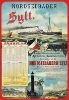 Nordseebäder Sylt Blechschild Schild gewölbt Metal Tin Sign 20 x 30 cm SM0265-X