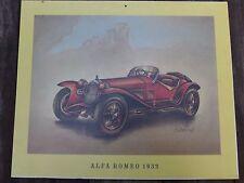 Vintage Alfa Romeo 1932 modelo de impresión del coche perfecto para tienda de Garaje Cobertizo pub