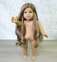 "American Girl 18"" KANANI DOLL Nude Naked Hawaiian Long Brown Hair Hazel Eyes EUC"