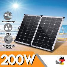 12V 200W Folding Solar Panel 200 Watt Mono Caravan Camping Battery Charging USB