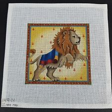 Melissa Shirley MSD Hand Painted Needlepoint Canvas Circus Lion Discontinued