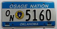 """USA Nummernschild aus Oklahoma """"Osage Nation"""" Indianerschild mit Wappen. 8204."""