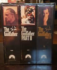 The Godfather Collection (VHS, 1992,  Tape Set) Part I II III New Sealed....