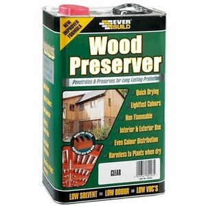 Everbuild LumberJack Wood Preserver Protection Low Solvent - Clear - 5L