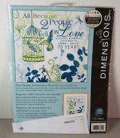 Crewel Dimensions Embroidery Kit Two People Anniversary Record 71-73812