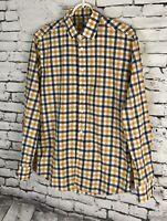 Brooklyn Tailors No. 358 Grand Mens Plaid Button Down Shirt Size 1 (XS?)