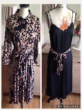 Viyella Black Mix 3 Piece Dress With Slip Dress And Tie Belt Size-12 BNWOT (R1)